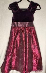 Girls Christmas Dress - Burgundy